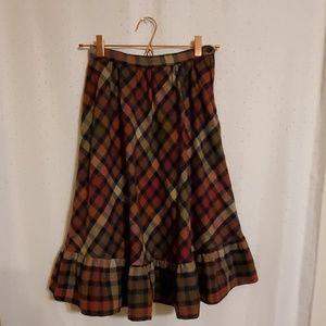 Vintage | Plaid Fall Skirt